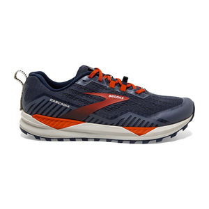 Brooks Cascadia 15 Trail Hardloopschoenen Donkerblauw/Oranje/Wit Heren