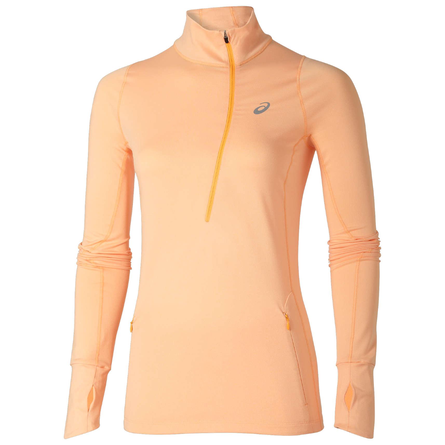 faadaa5cce5 ASICS X 1/2 Zip Shirt Lange Mouwen Oranje Dames koop je bij ...