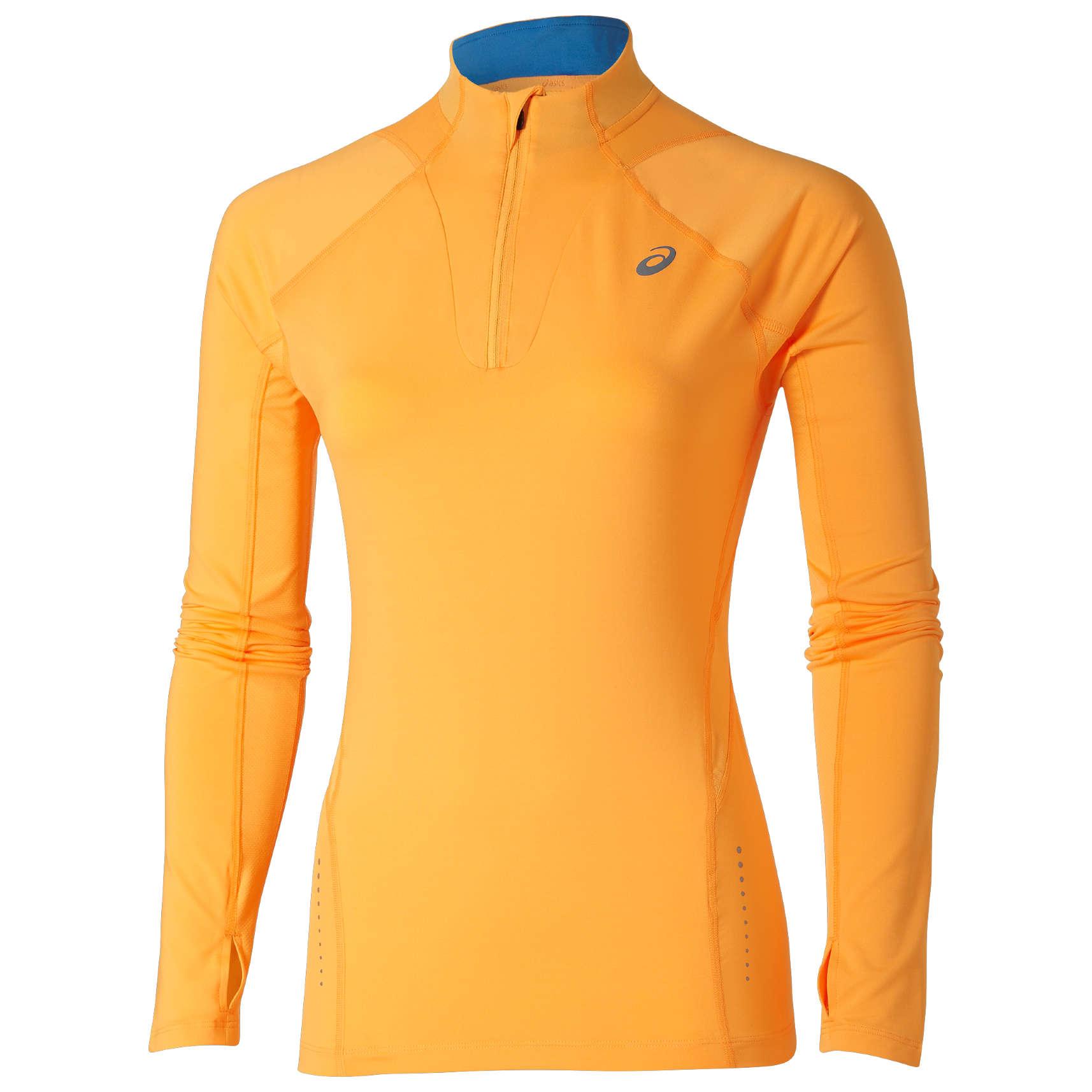d74c824a76f ASICS 1/2 Zip Shirt Lange Mouwen Oranje Dames koop je bij Futurumshop.nl