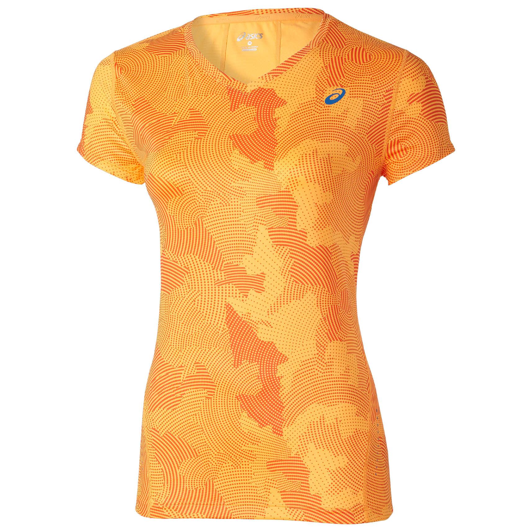 74b810fee17 ASICS Allover Graphic Shirt Korte Mouwen Oranje Dames koop je bij ...