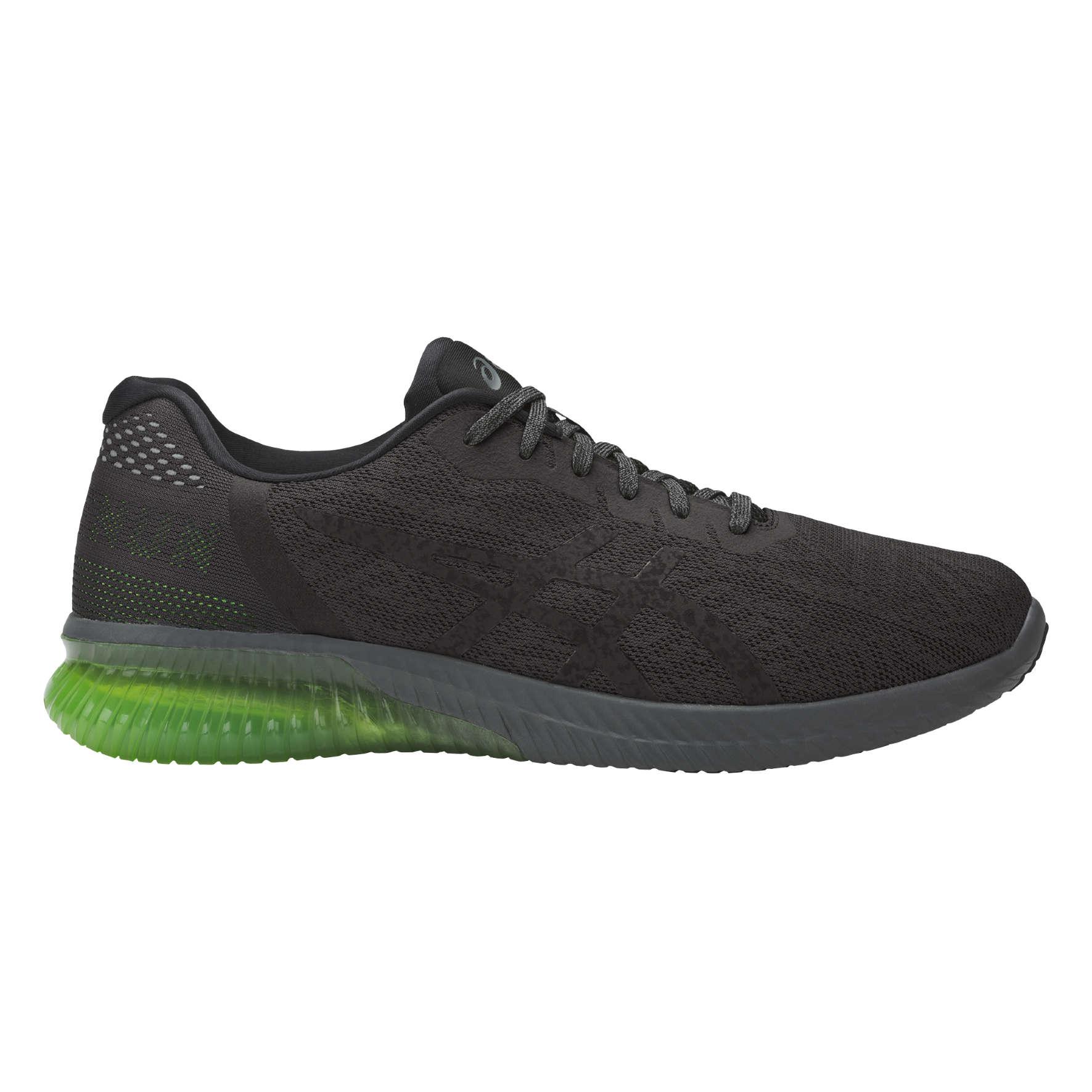 asics zwart groen