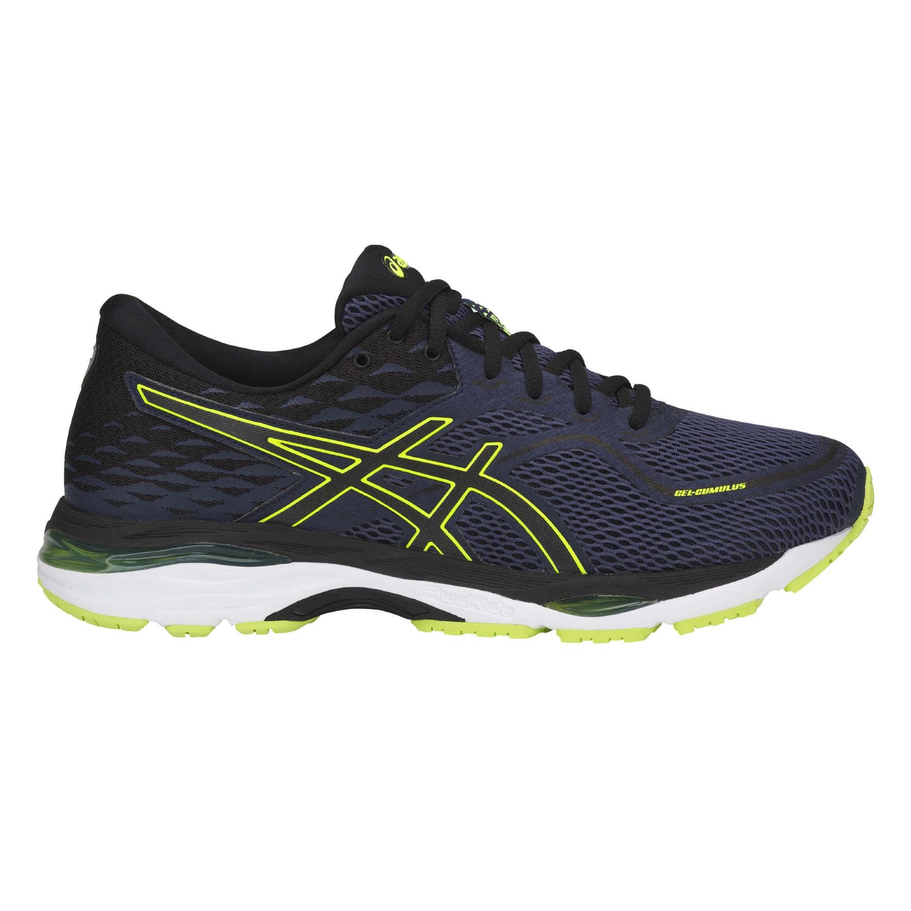 Running chaussures ASICS Titanium/Noir/Bleu zéro but lucratif