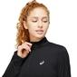 ASICS Core 1/2 Zip Hardloopshirt Lange Mouwen Zwart Dames