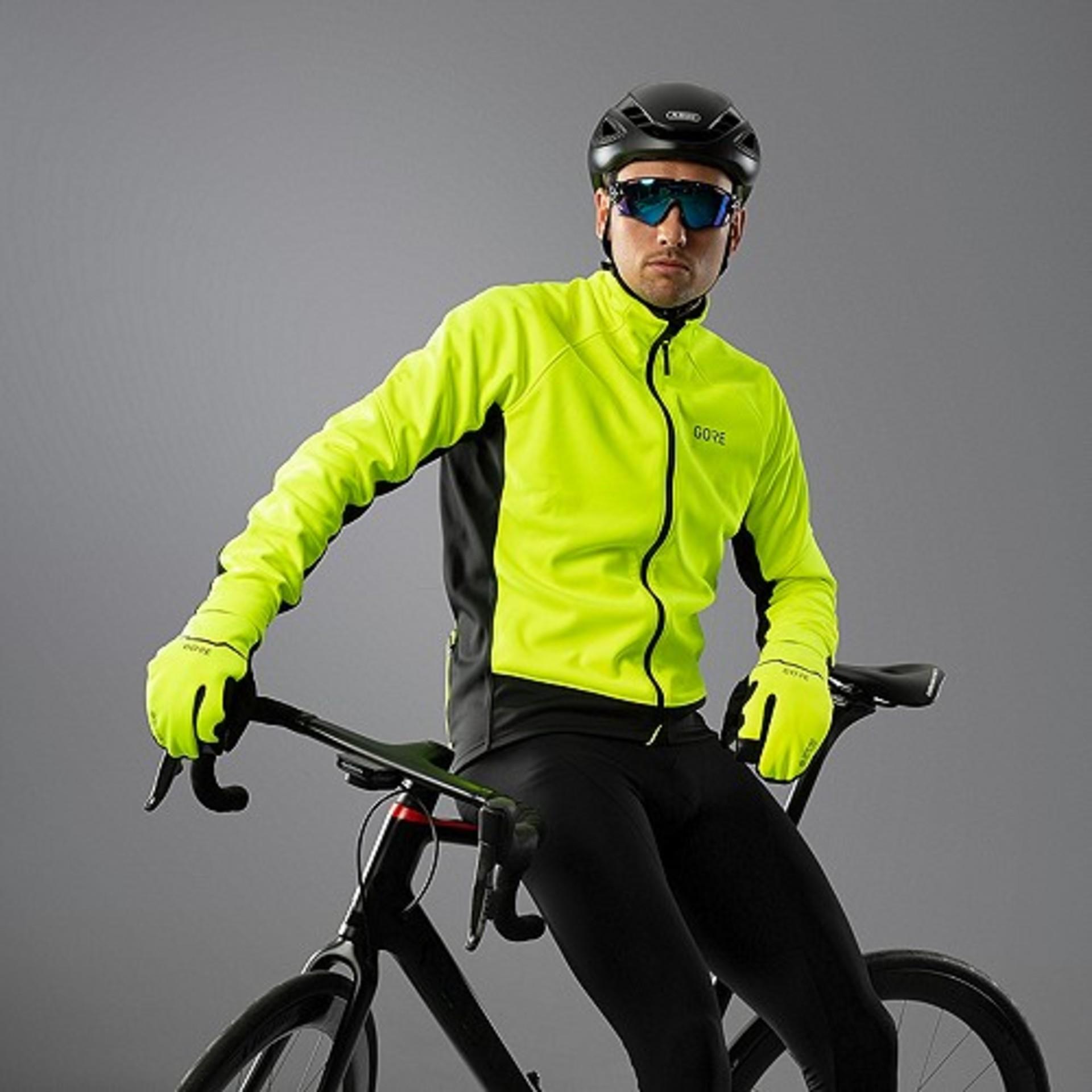 GORE Wear C3 GTX I Thermo Fietsjack Neon Geel/Zwart Heren