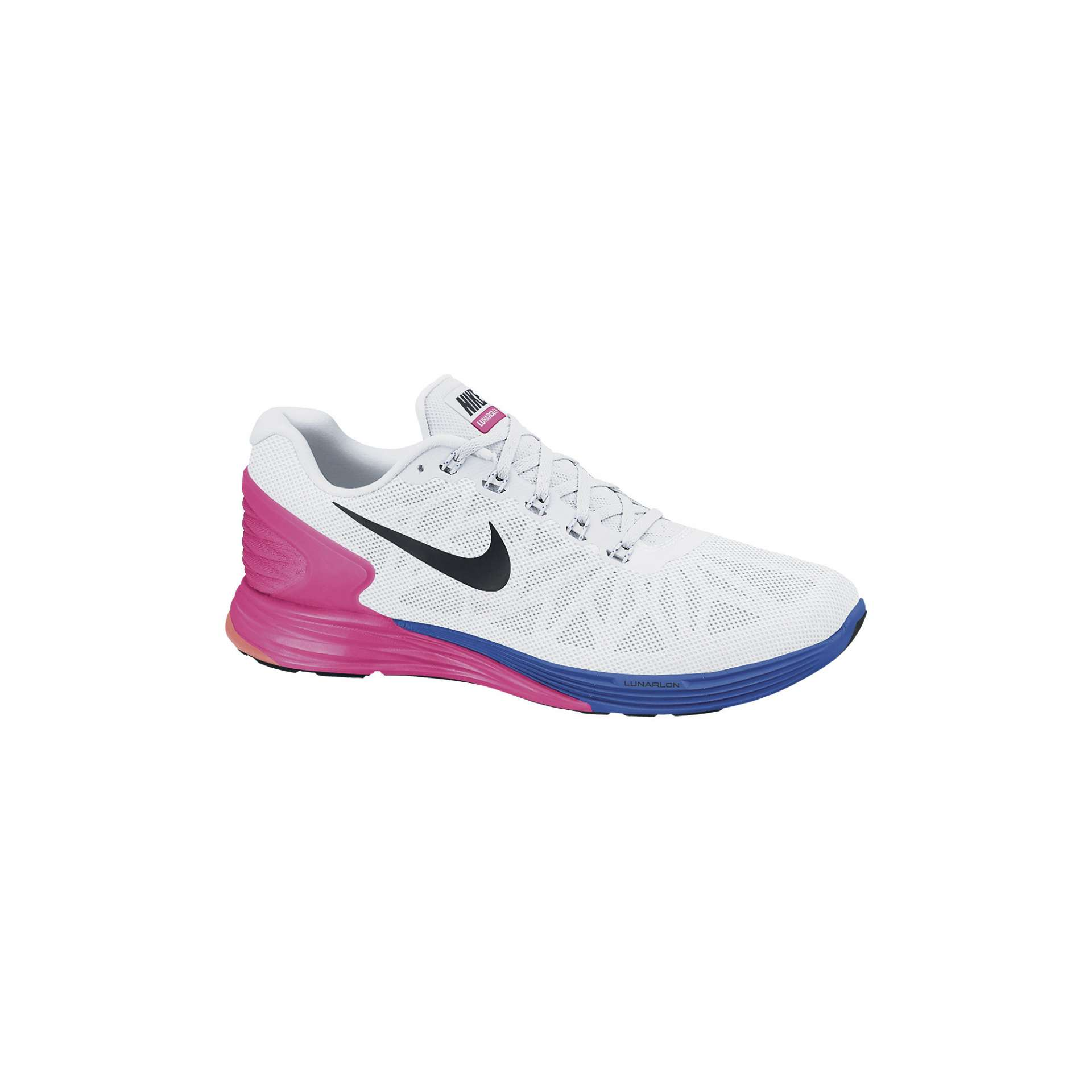 best service 58f49 9b14d Nike Lunarglide 6 Hardloopschoenen Wit Roze Blauw Dames