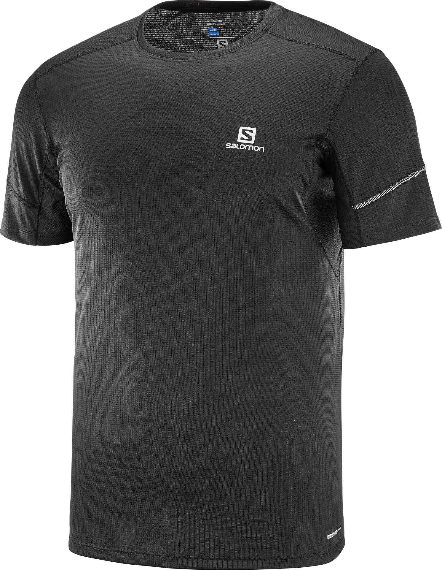 5691bd0ce82 Salomon Agile Hardloopshirt Korte Mouwen Zwart Heren koop je bij ...