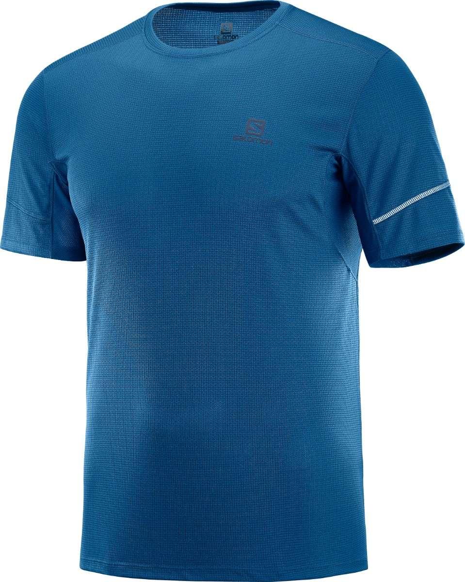 62839cbd802 Salomon AGILE Hardloopshirt Korte Mouwen Blauw Heren koop je bij ...