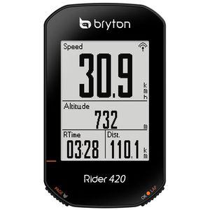 Bryton Rider 420H GPS Fietscomputer met Hartslagmeter Zwart