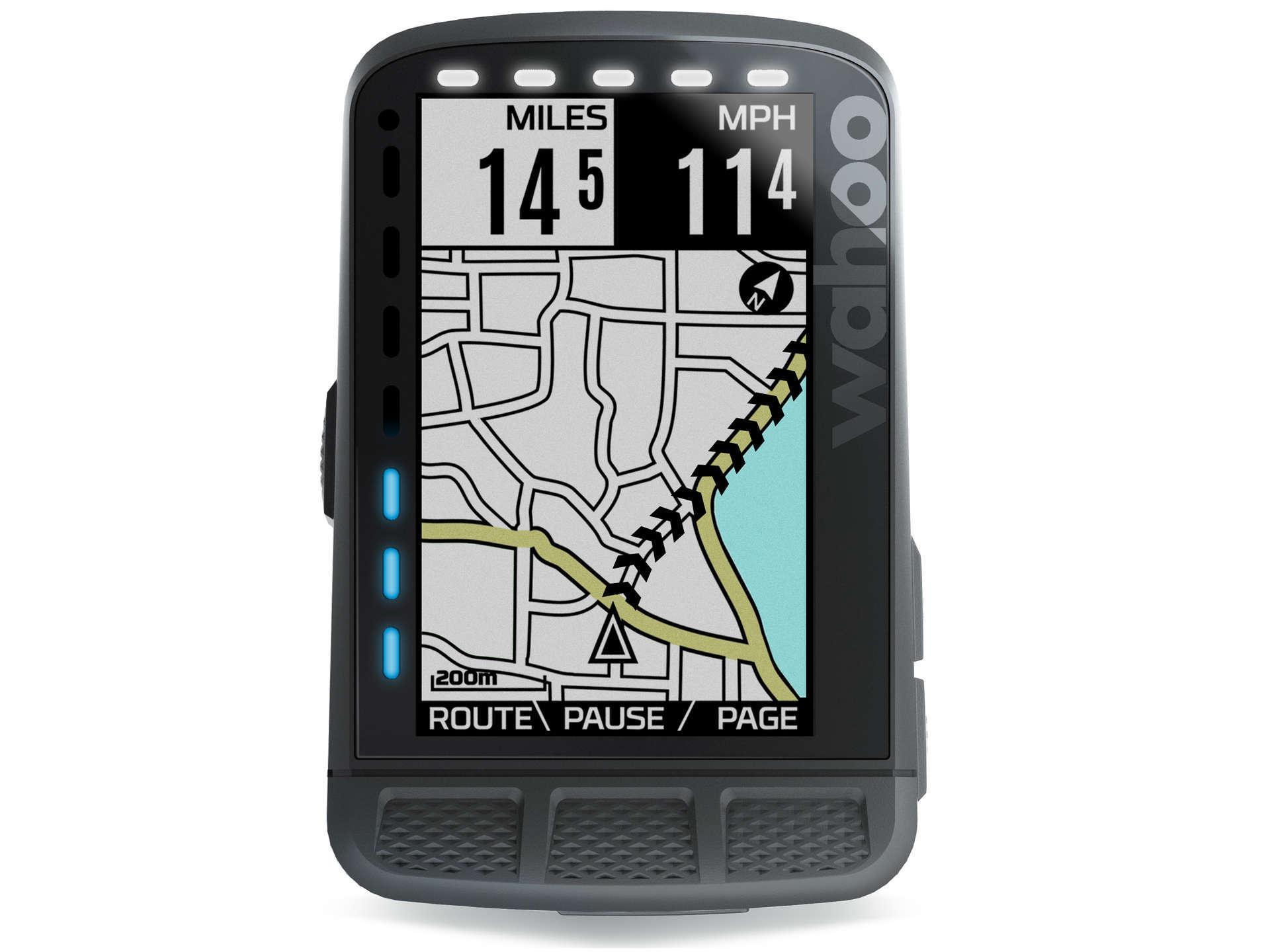 Wahoo ELEMNT ROAM Stealth GPS Fietscomputer Zwart Bundel