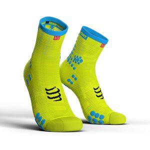 Compressport Pro Racing Socks v3.0 Run High Fluo Geel