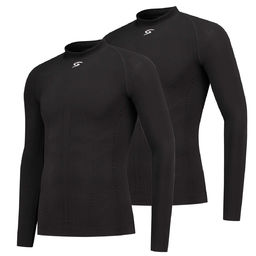 FUTURUM Base Layer Long Sleeve Black 2 Pack