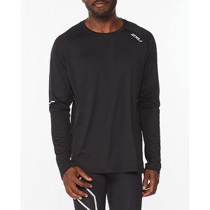 2XU Aero Hardloopshirt Lange Mouwen Zwart Heren