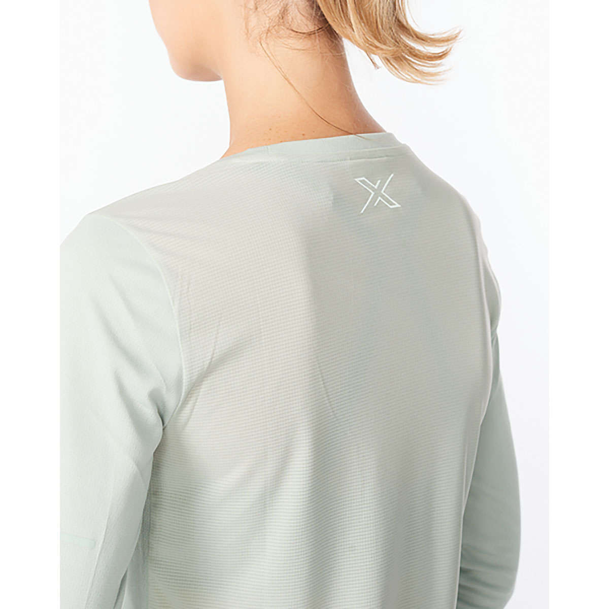 2XU Aero Hardloopshirt Lange Mouwen Mintgroen Dames