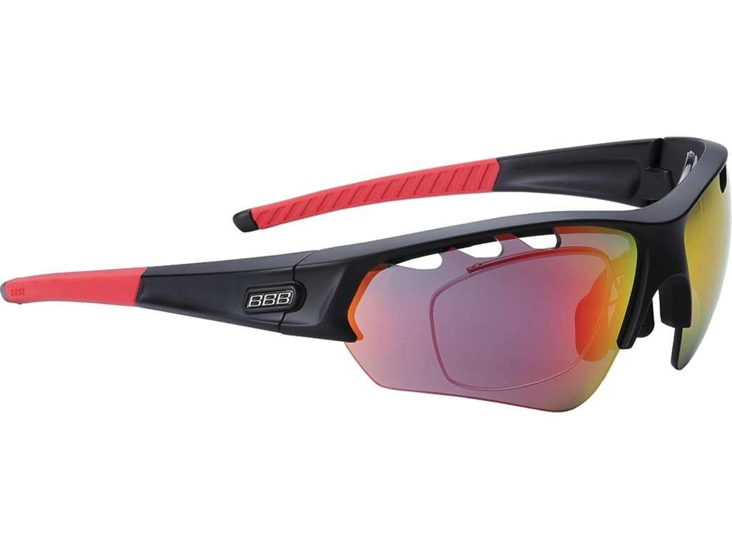 aac84df2463fd1 BBB Select Optic MLC BSG-51 Sportbril Mat Zwart Rood koop je bij ...