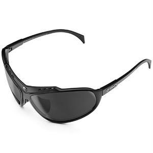 bf1f0b11904b52 Briko Stinger Sportbril Mat Zwart met Silver Mirror Lens