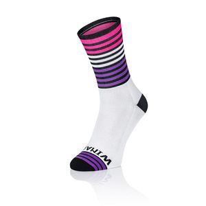 Winaar OMG3 Fietssokken Wit/Roze/Paars/Zwart