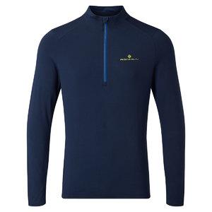 Ronhill Tech Thermal 1/2 Zip Hardloopshirt Lange Mouwen Donkerblauw Heren