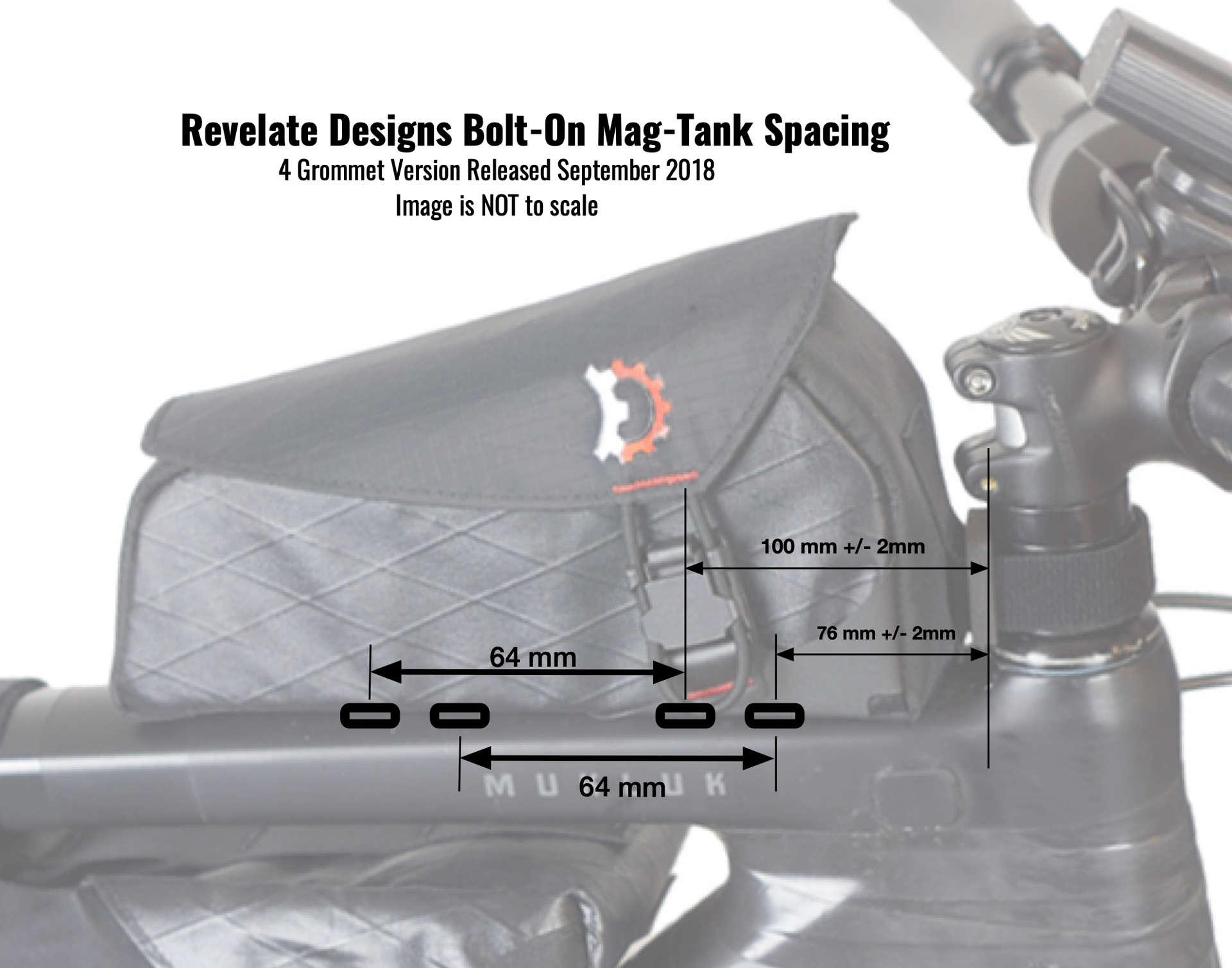 Revelate Designs Mag Tank 2000 Bolt On Frametas Zwart