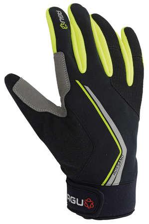picture Rossano Windproof Handschoenen Zwart/Fluo Geel