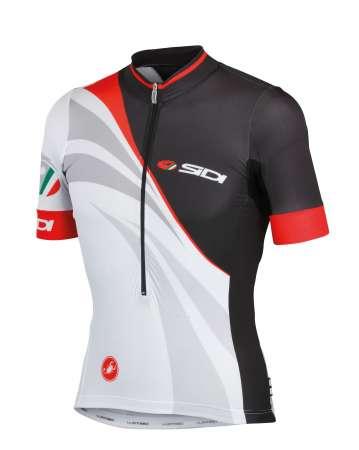 picture Sidi 14 Ivan Aero Race Fietsshirt Korte Mouwen Zwart/Wit Heren