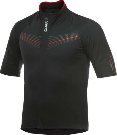 picture Elite Bike Weather Fietsshirt Korte Mouwen Zwart/Rood Heren