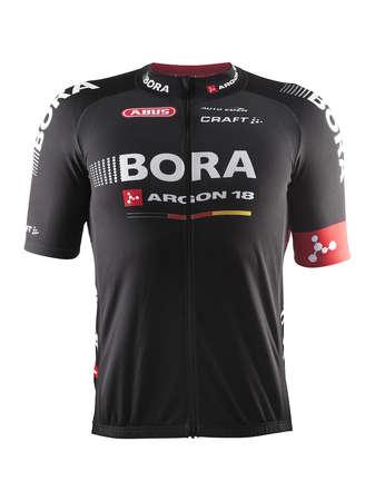 picture Bora Argon 18 Replica Fietsshirt Korte Mouwen Zwart/Rood/Wit Heren