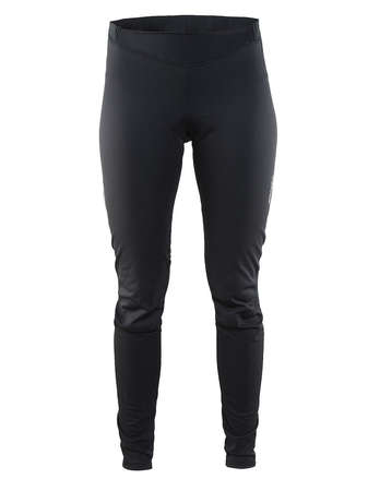picture Velo Thermal Wind Fietsbroek Lang Met Zeem Zwart Dames