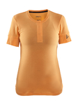 Craft Ride Fietsshirt Korte Mouwen Oranje Dames
