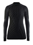 Craft Be Active Intensity Crew Neck Ondershirt Lange Mouwen Zwart Dames