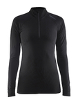 Craft Be Active Intensity Zip Ondershirt Lange Mouwen Zwart Dames