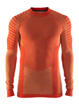 Craft Be Active Intensity Crew Neck Ondershirt Lange Mouwen Oranje Heren