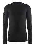 Craft Be Active Intensity Crew Neck Ondershirt Lange Mouwen Zwart Heren