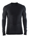 Craft Be Active Intensity Crew Neck Ondershirt Lange Mouwen Zwart/Grijs Here