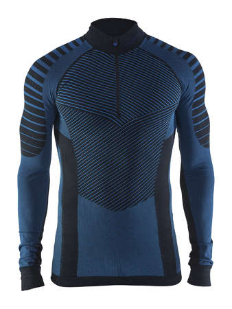 Craft Be Active Intensity Zip Ondershirt Lange Mouwen Grijs/Zwart Heren