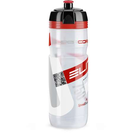 picture Bidon Elite Super Corsa Transparant Rood Logo 750ML