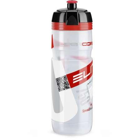 picture Bidon Elite Super Corsa Transparant Rood Logo 750ML