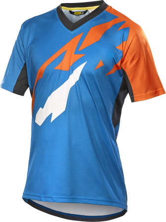 picture Crossmax Pro Trail Fietsshirt Korte Mouwen Blauw/Oranje Heren