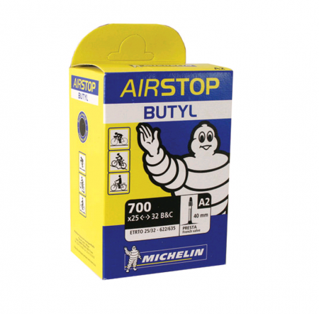 picture Airstop A2 Race 25-32mm Binnenbanden Presta Ventiel 40mm