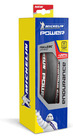 Michelin Power Endurance Race Vouwband Zwart/Rood 23mm