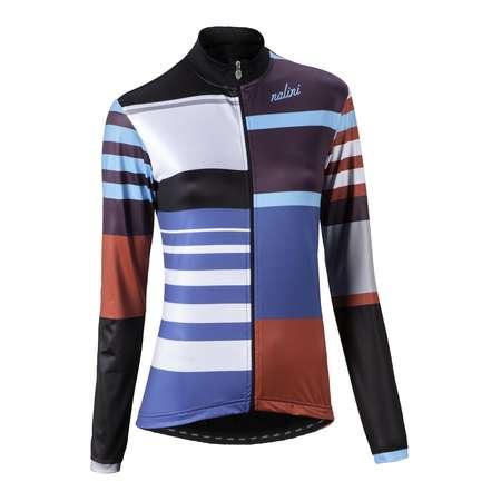 picture Colore Fietsshirt Lange Mouwen Blauw/Wit/Zwart Dames