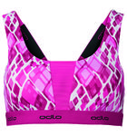 Padded Medium Sports Bra Roze/Wit Dames