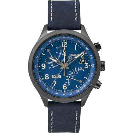 picture IQ Fly-Back Chronograph Horloge Blauw