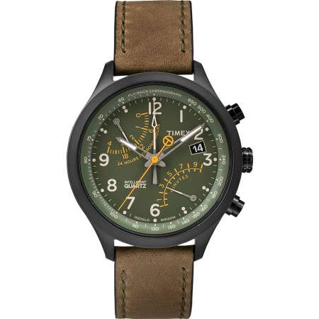 picture IQ Fly-Back Chronograph Horloge Groen