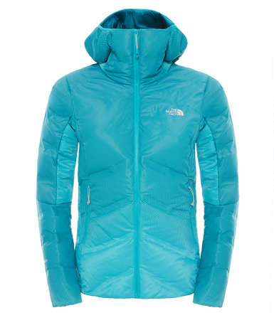 The North Face Fuseform Dot Matrix Hooded Down Jacket Groen Dames