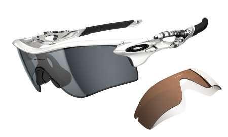 picture Radarlock Matte White/Grey Polarized + VR28 Black Iridium Zonnebril