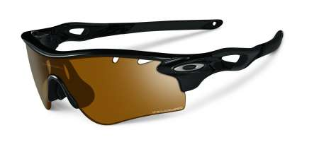 picture Radarlock Polished Black/Bronze Polarized Vented + Deep Blue Polarized
