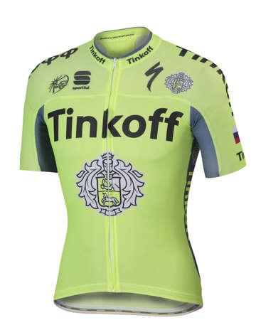 picture Tinkoff Bodyfit Pro Race Team Fietsshirt Korte Mouwen Fluo Geel