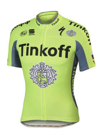 picture Tinkoff BodyFit Pro Team Fietsshirt Korte Mouwen Fluo Geel