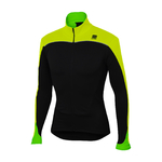 Sportful Force Thermal Fietsshirt Lange Mouwen Zwart/Fluo Geel Heren
