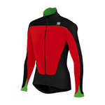 Sportful Force Thermal Fietsshirt Lange Mouwen Zwart/Fluo Groen Heren